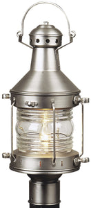 Exteriors Nautical 1-Light Outdoor Post Mount Brushed Nickel Z11528