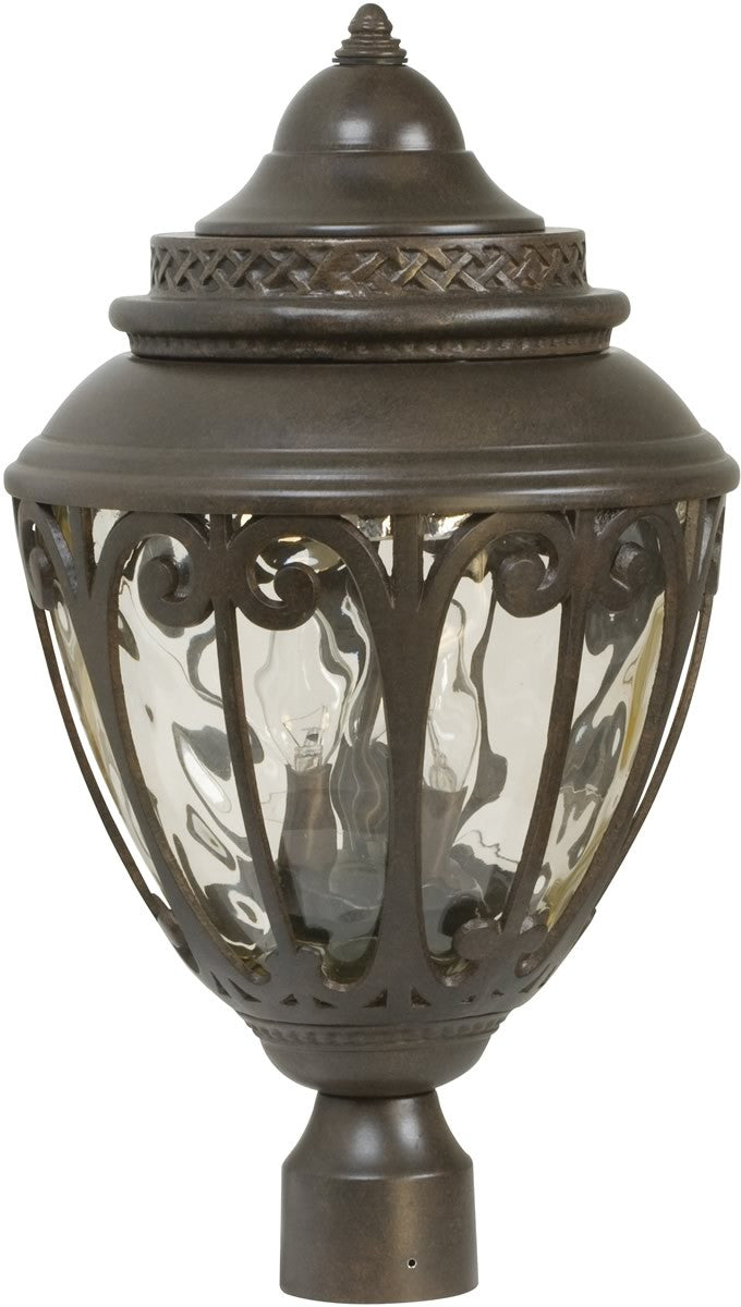 "21""h Olivier 3-Light Outdoor Post Head Aged Bronze"