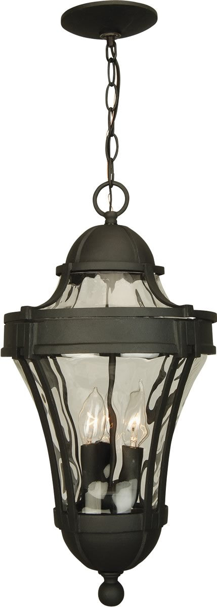 "11""w Parish 3-Light Outdoor Pendant Matte Black"