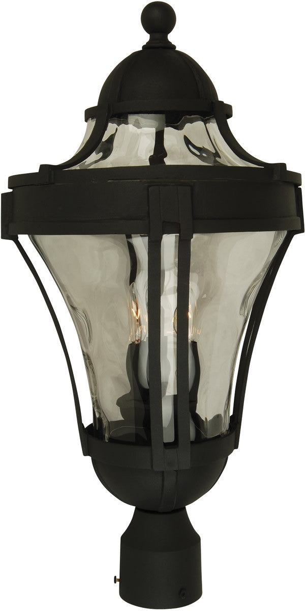 "23""h Parish 3-Light Outdoor Post Head Matte Black"