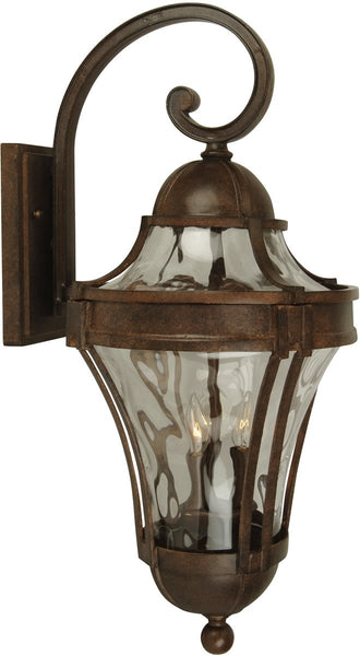 Exteriors Parish 3-Light Outdoor Wall Aged Bronze Z422498