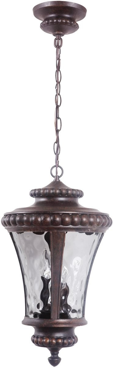 "12""w Prescott II 3-Light Outdoor Pendant Peruvian Bronze"