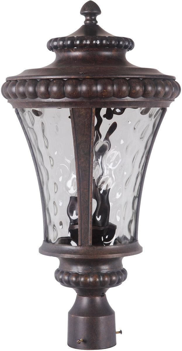 "23""h Prescott II 3-Light Outdoor Post Mount Peruvian Bronze"