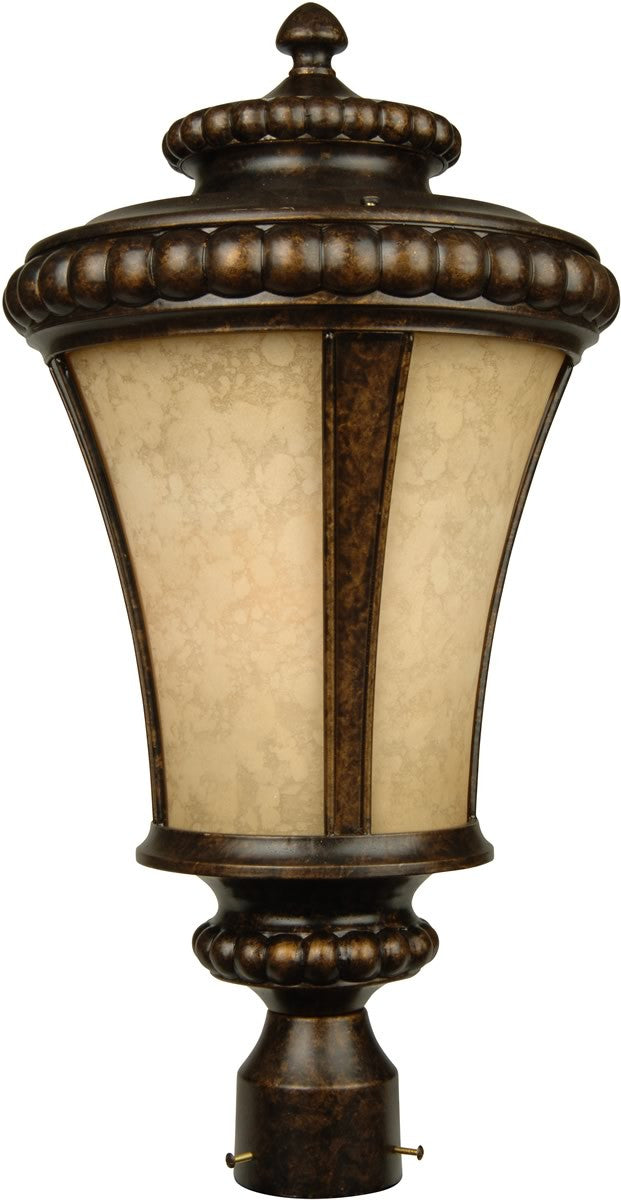 "23""h Prescott 1-Light Outdoor Post Head Peruvian Bronze"