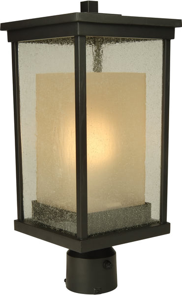 Exteriors Riviera 1-Light Outdoor Post Mount Oiled Bronze Z372592NRG