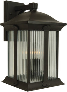 Exteriors Summit 3-Light Outdoor Wall Oiled Bronze Z412492
