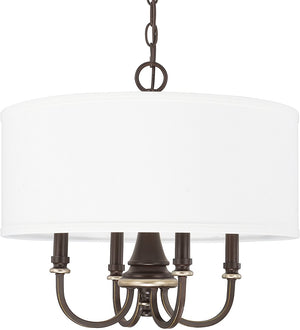 "19""W Asher 4-Light Pendant Champagne Bronze"