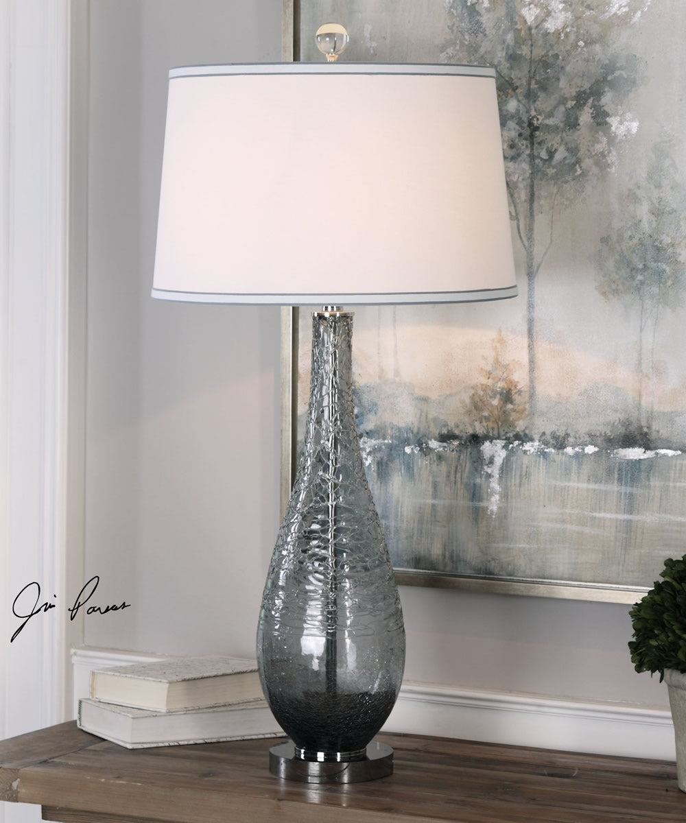 "35""H Serano Gray Glass Table Lamp"