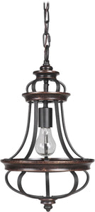 0-000355>Stafford 1-Light Mini Pendant Light Aged Bronze/Textured Black