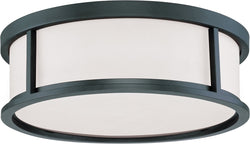 "17""W Odeon 3-Light Close-to-Ceiling Aged Bronze"