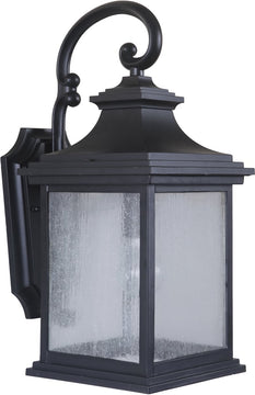 "20""H Gentry 1-Light Medium Outdoor Wall Light Midnight"
