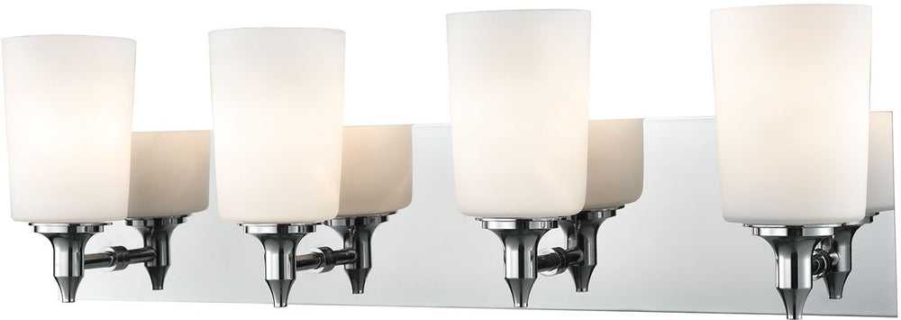 "25""W Alton Road 4-Light Vanity Chrome/Opal Glass"