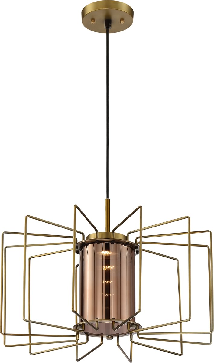"20""W Wired 1-Light Pendant Brushed Nickel"