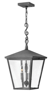 Trellis 3-Light Outdoor Hanging Light in Aged Zinc