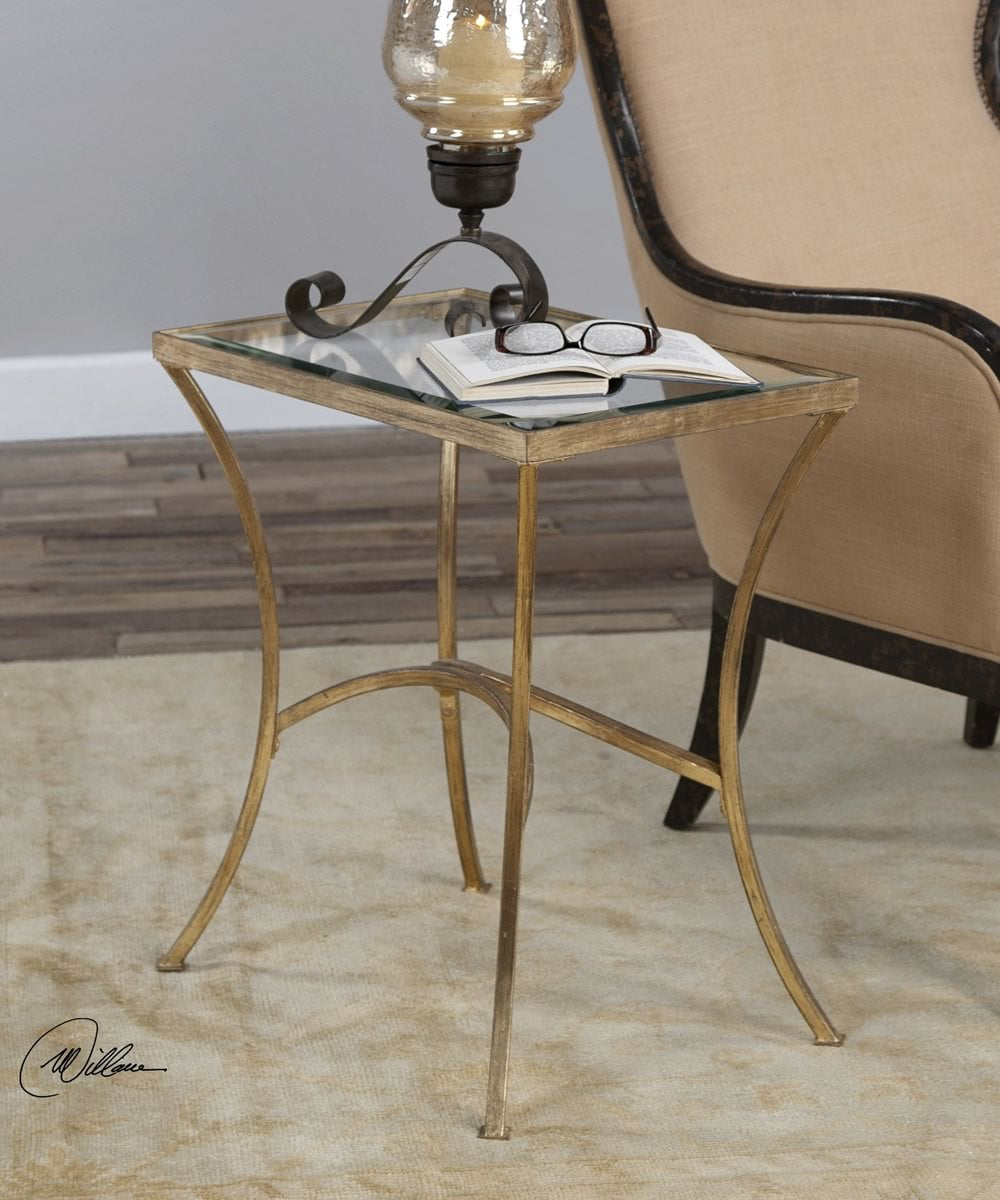 "24""H Alayna Gold End Table"
