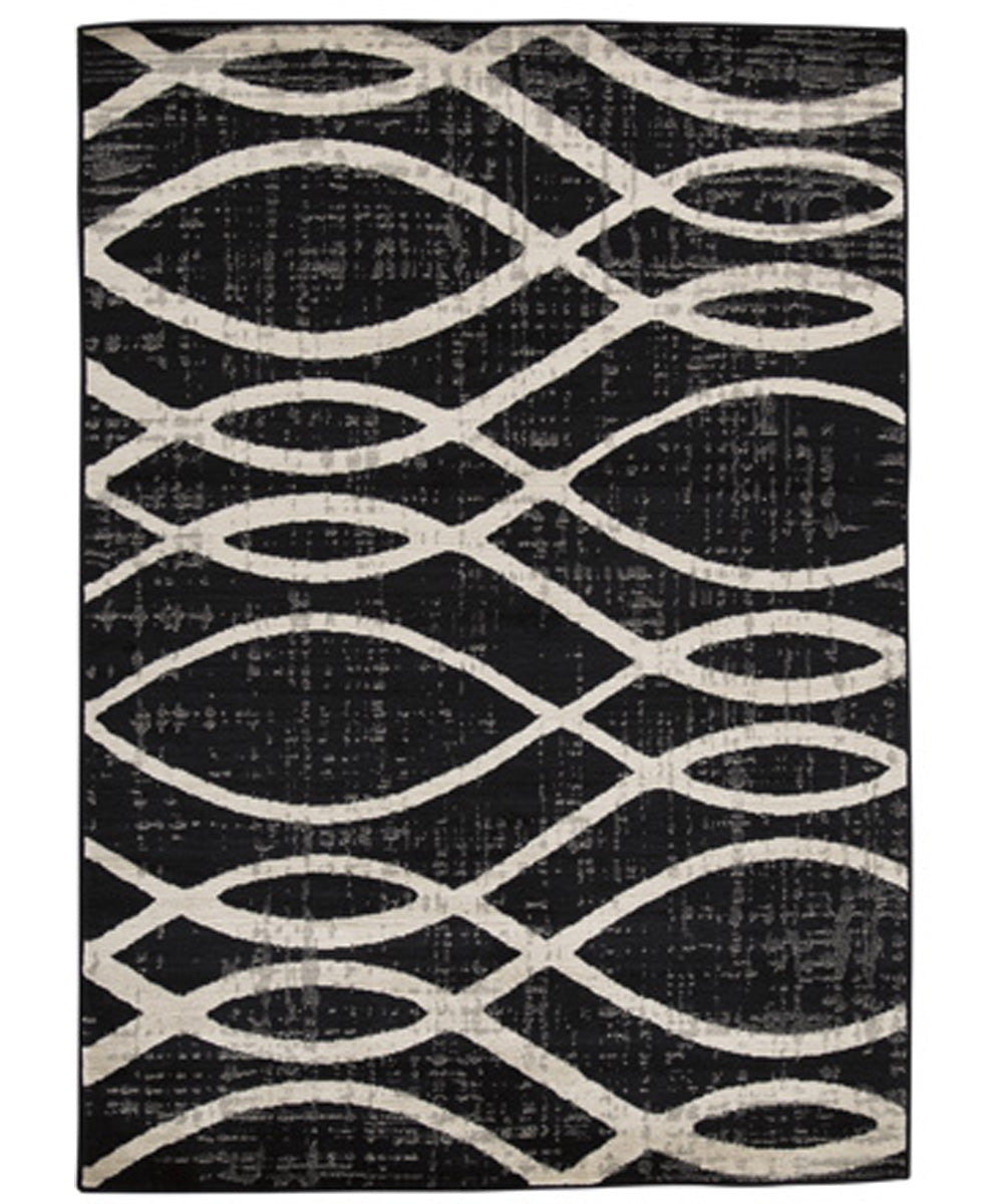 "63""W Avi Medium Rug Gray/White"