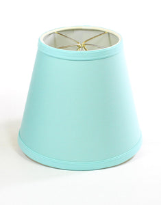 "8""W  x 7""H Empire Linen Edison Clip On Lamp Shade - Island Paradise Aqua Blue"