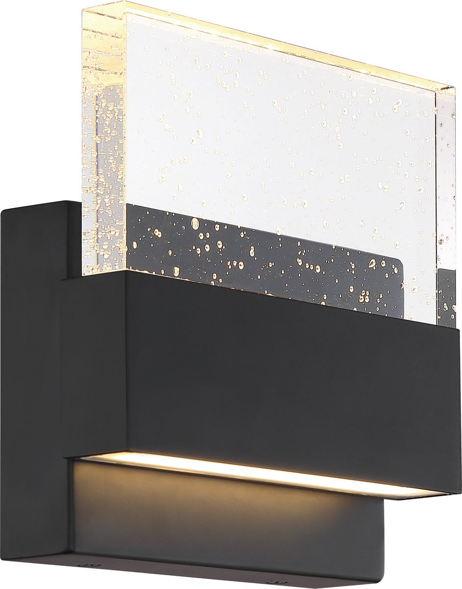 "7""W Ellusion 1-Light Vanity & Wall Matte Black"