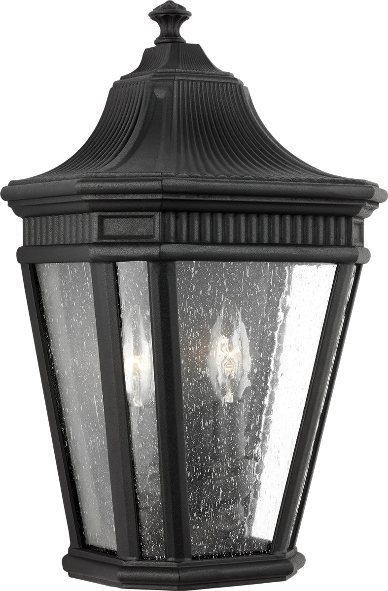 Cotswold Lane 2-Light Wall Lantern Black