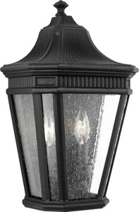 0-002115>Cotswold Lane 2-Light Wall Lantern Black