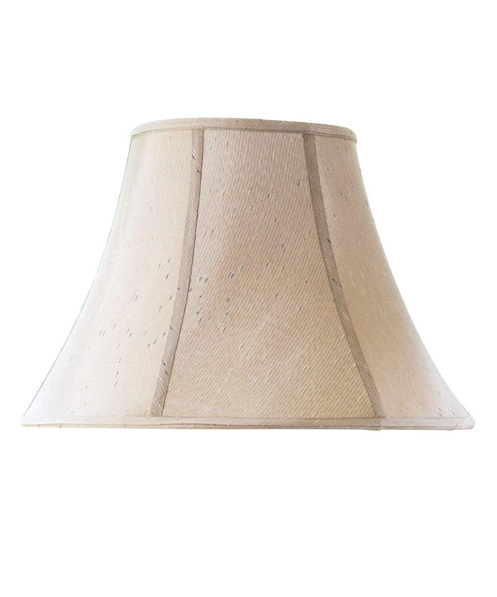 "18""W  x 12""H Off-White Bell Lamp Shade"