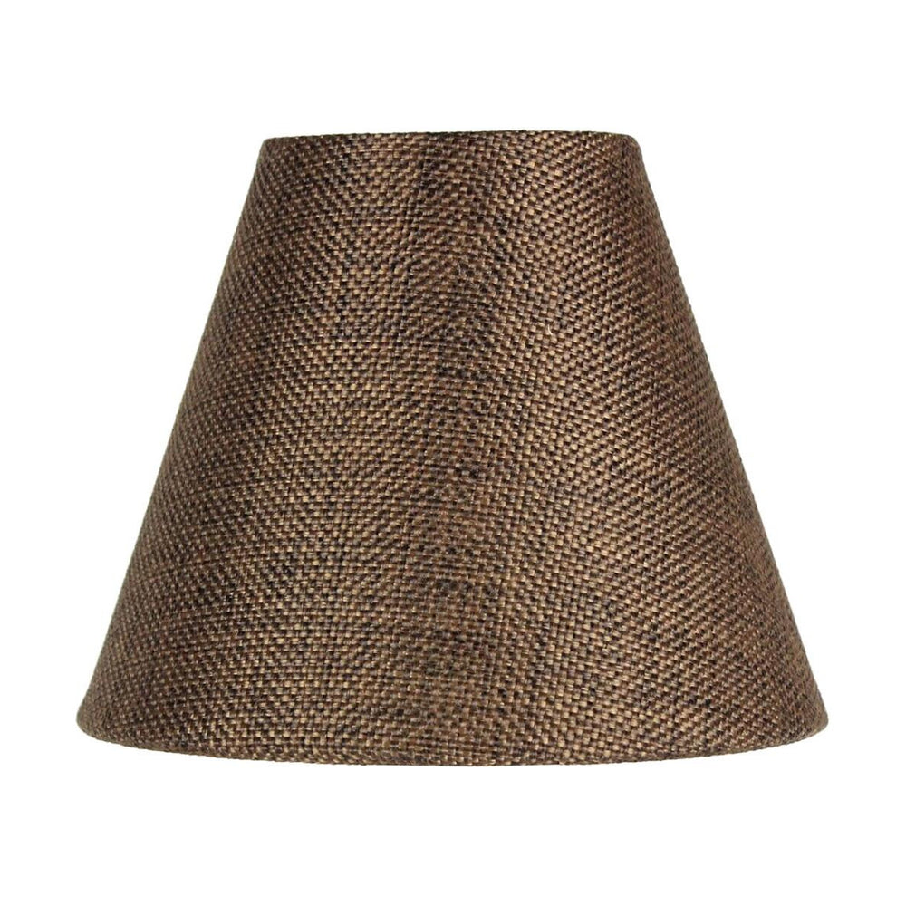 "6""W x 5""H Chocolate Burlap Chandelier Lampshade"