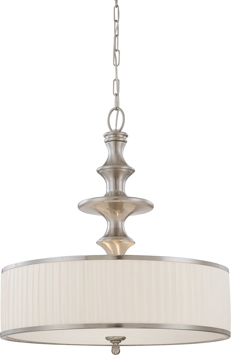 "24""W Candice 3-Light Pendant Brushed Nickel"