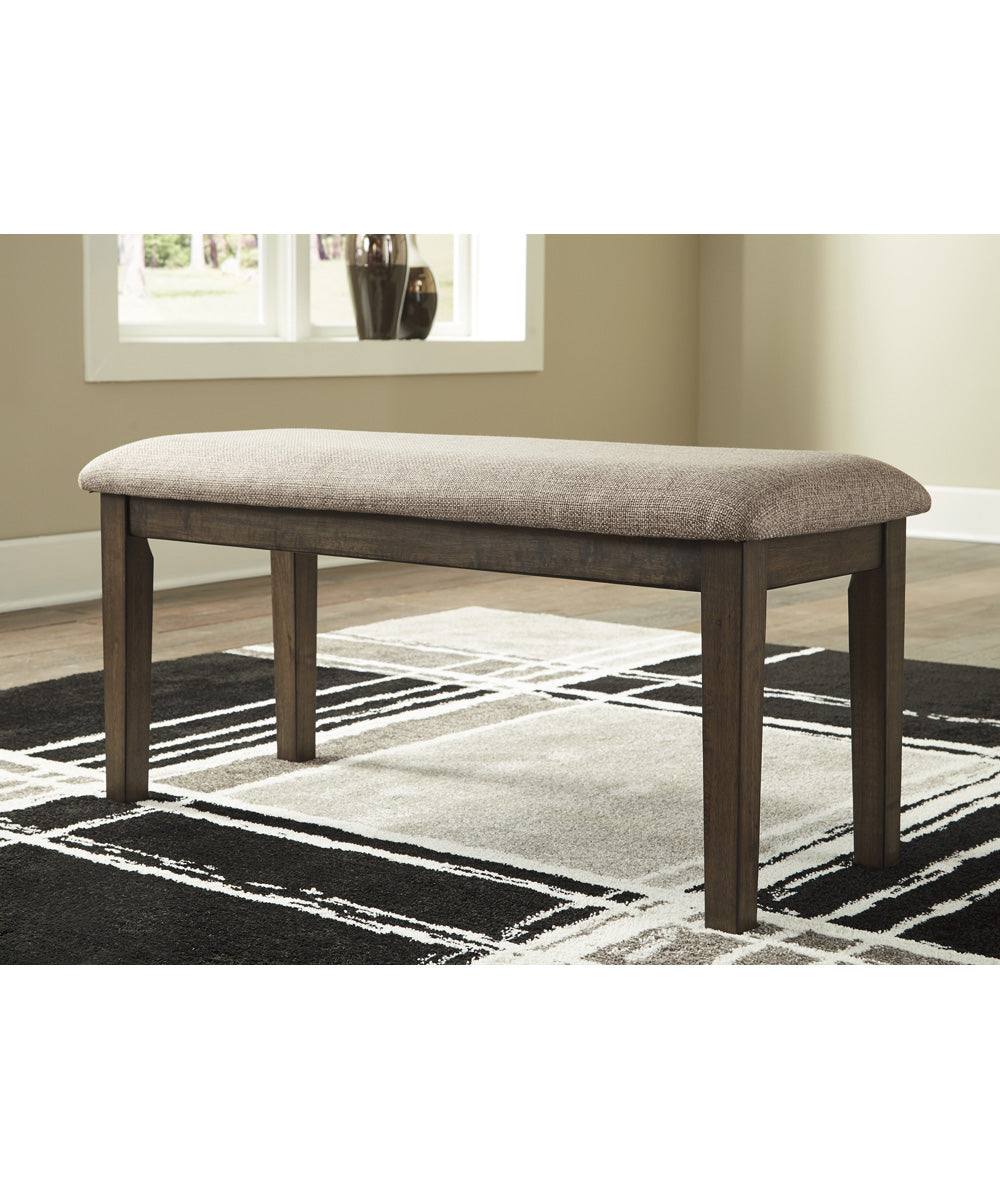 "19""H Drewing Upholstered Bench Brown"