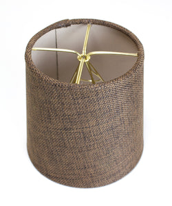 4x5x5 Chocolate Burlap Drum Chandelier Clip-On Lampshade