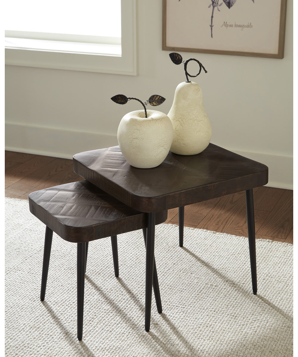 Ravenwood Accent Table Set of 2 Brown/Black