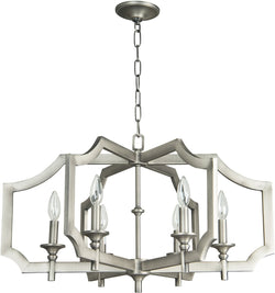 0-007330>Lisbon 6-Light Chandelier Antique Nickel