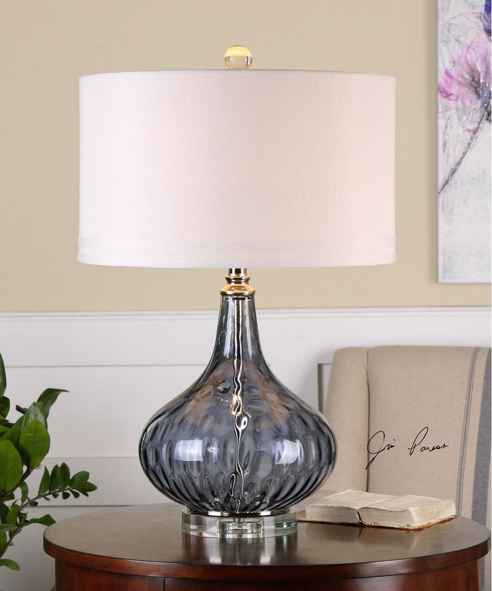 "27""H Sutera Water Glass Table Lamp"
