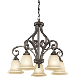 Monroe 5-Light Chandelier 1 Tier Medium Olde Bronze