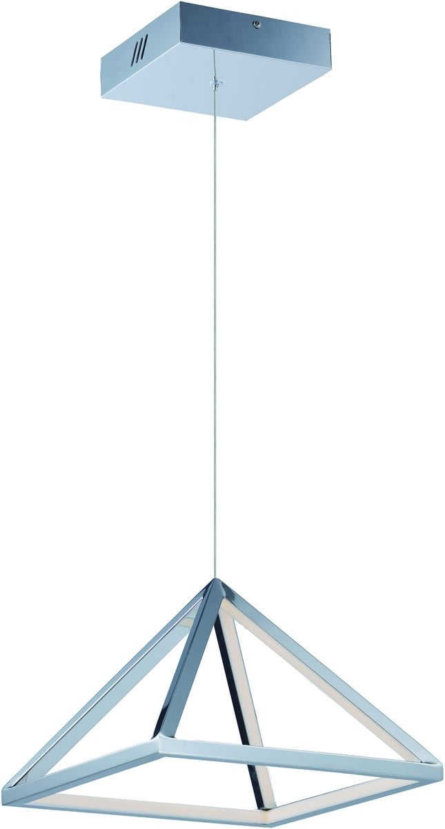 Pyramid LED Pendant Polished Chrome