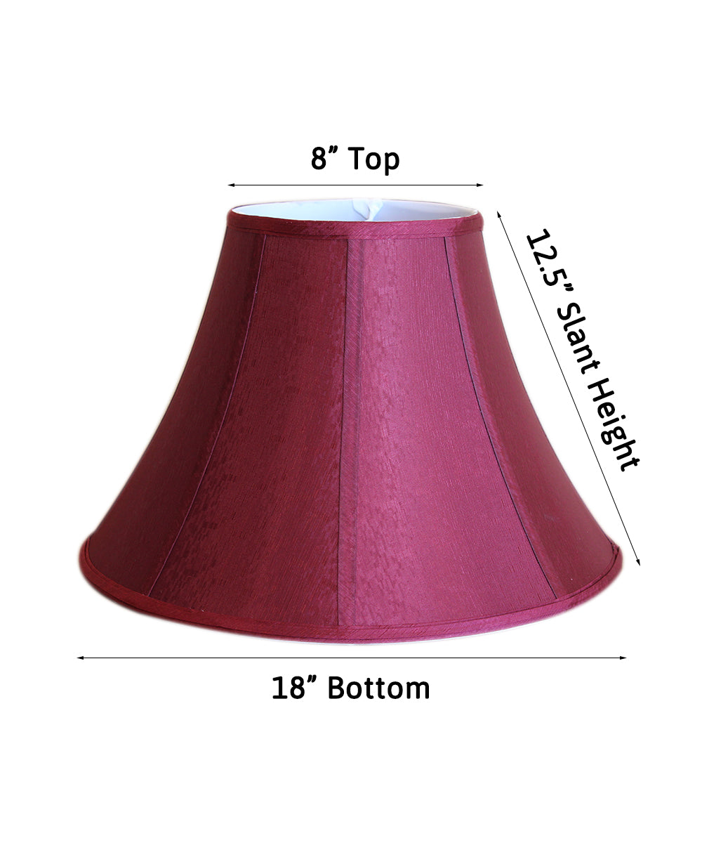 "18""W  x 13""H Sangria Round Bell Soft Back Shade"