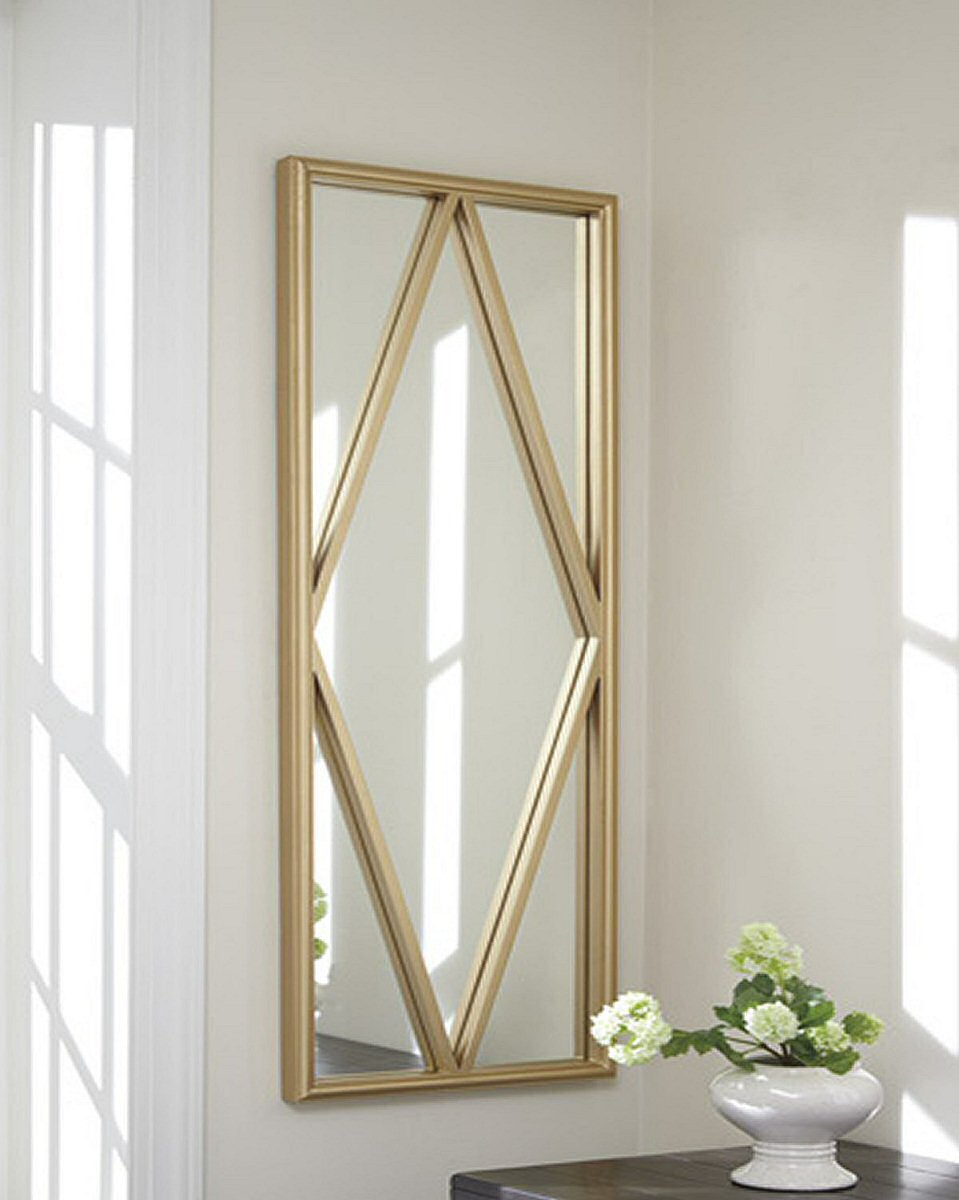"48""H x 16""W Offa Accent Mirror Gold"