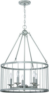 0-008120>Villa 5-Light Pendant Light Satin Nickel