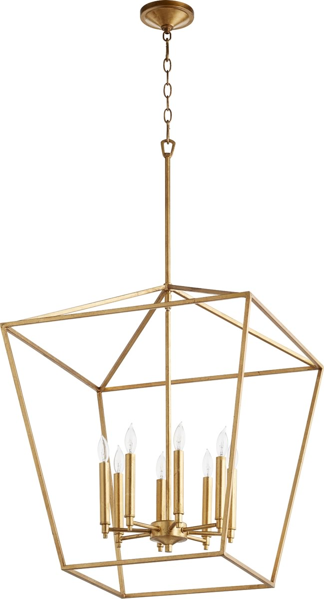 "22""W Gabriel 8-light Entry Foyer Hall Chandelier Gold Leaf"