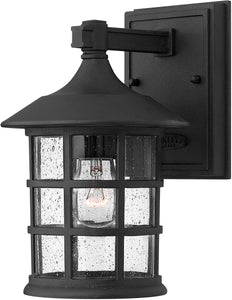 "9""H Freeport 1-Light Outdoor Wall Light Black"