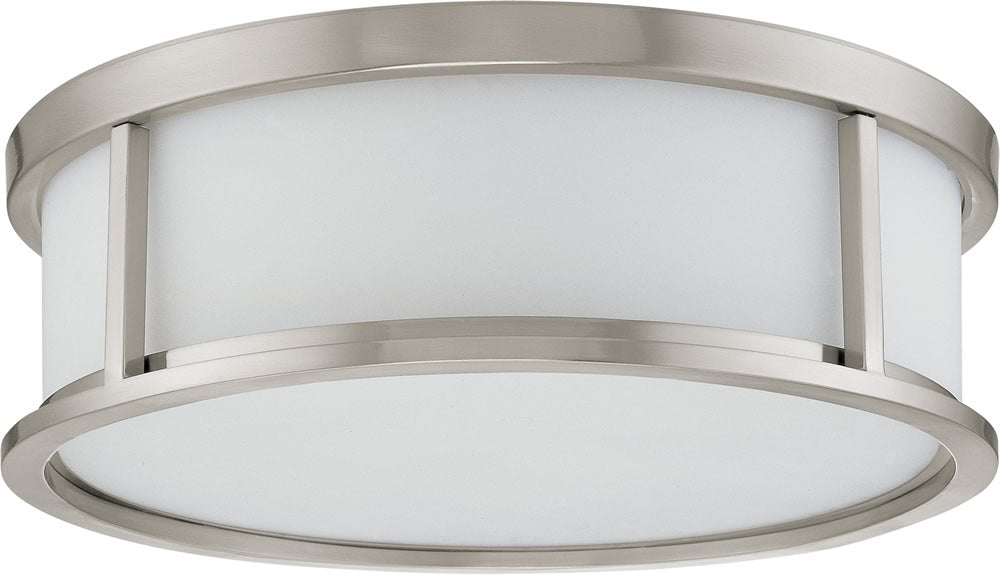 "17""W Odeon 3-Light Close-to-Ceiling Brushed Nickel"