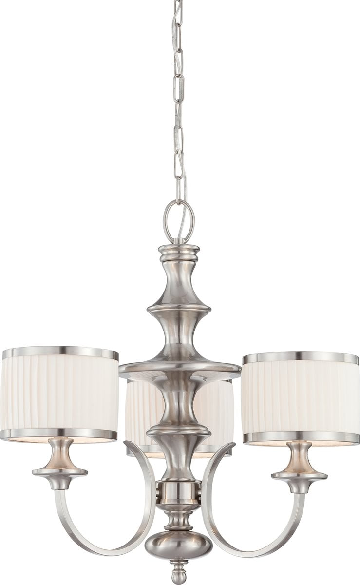 "24""W Candice 3-Light Chandelier Brushed Nickel"