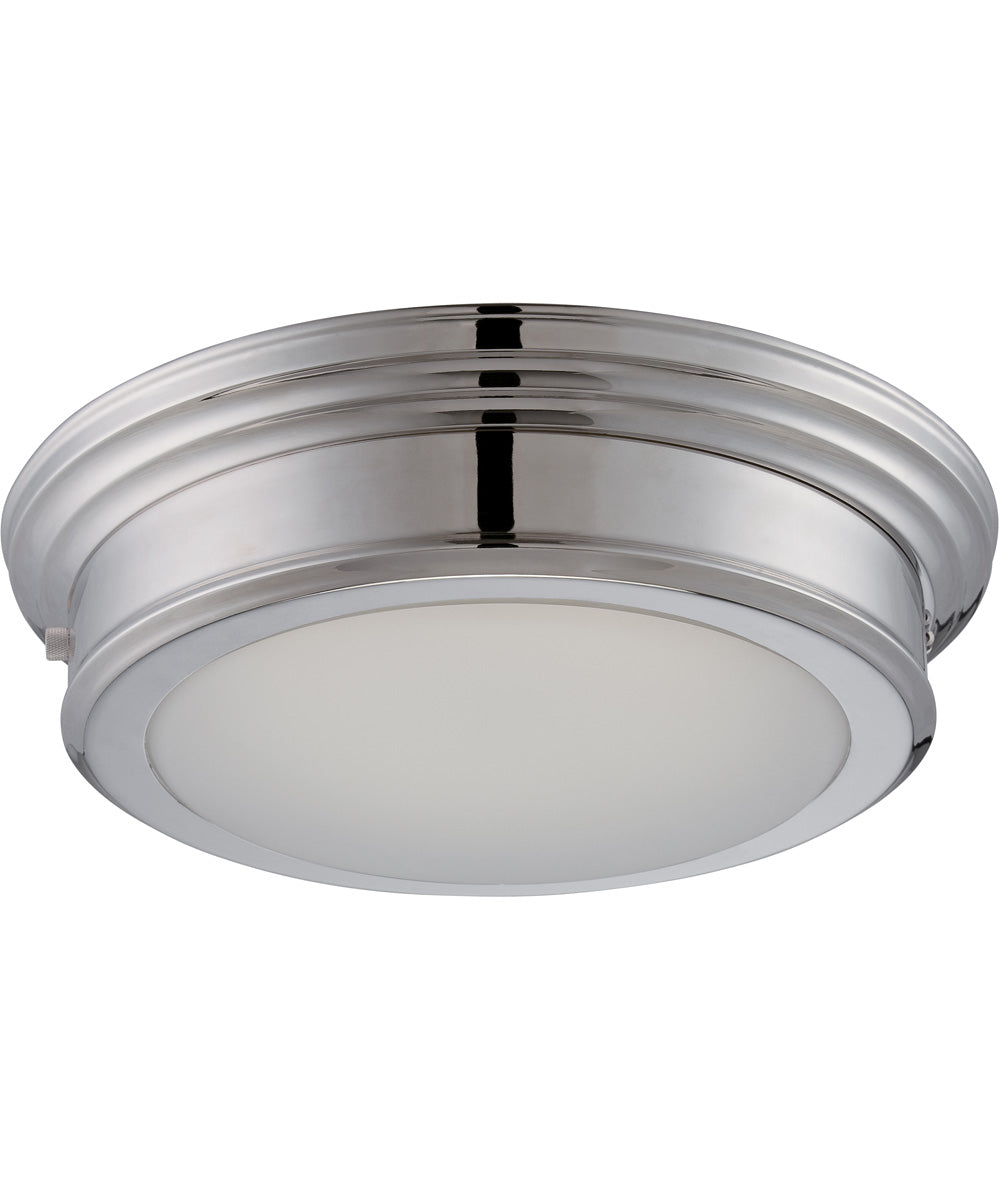 "14""W Chance 1-Light Close-to-Ceiling Polished Nickel"