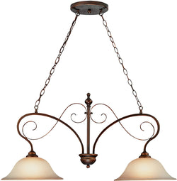0-008397>Preston Place 2-Light Island Pendant Light Augustine