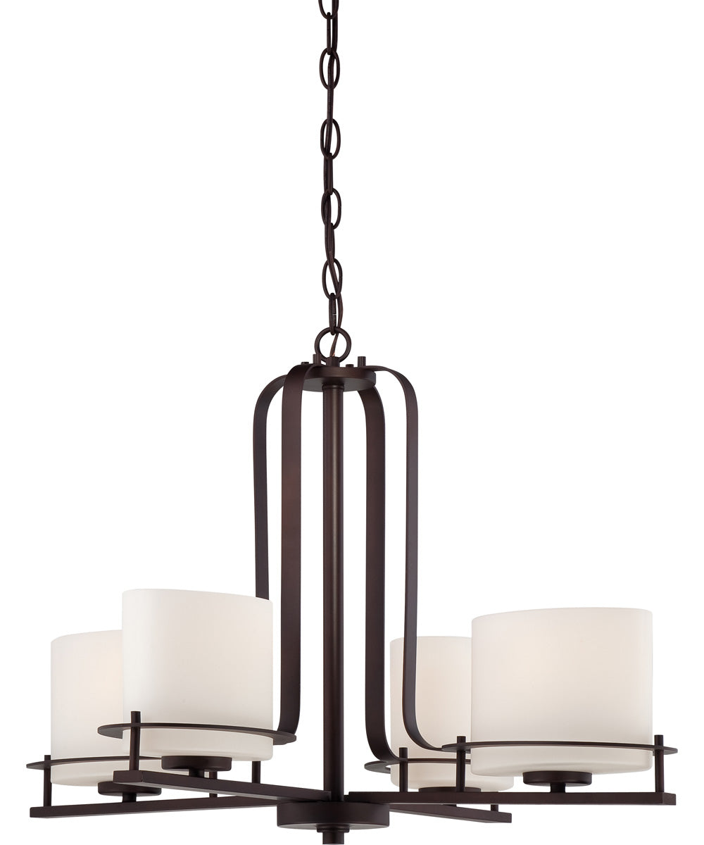 "26""W Loren 4-Light Chandelier Venetian Bronze"