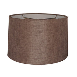 15x16x10 Chocolate Burlap Drum Shade