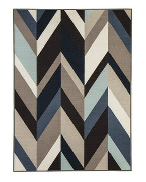 "4""W Keelia Medium Rug Blue/Brown/Gray"