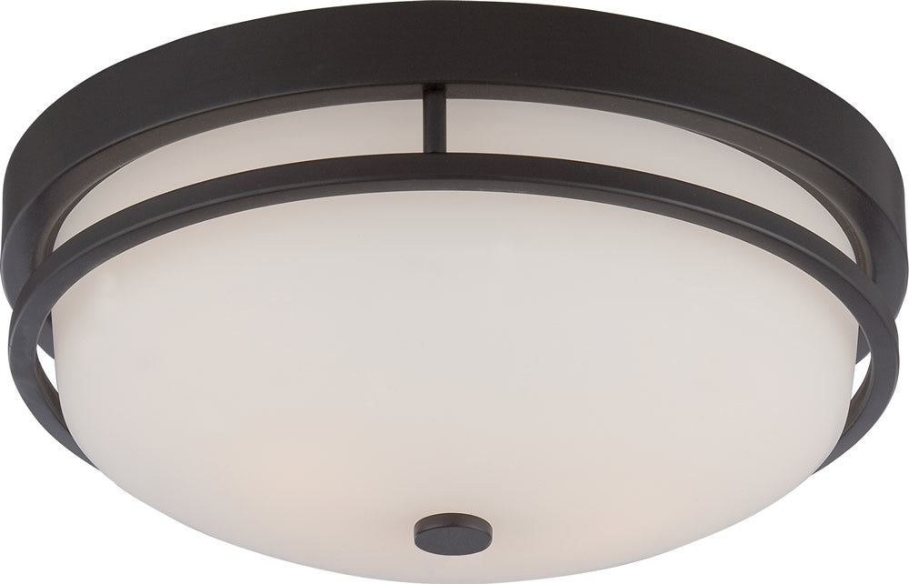 "13""W Neval 2-Light Close-to-Ceiling Sudbury Bronze"