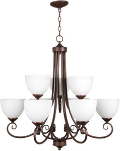 0-018748>Raleigh 9-Light Chandelier Old Bronze