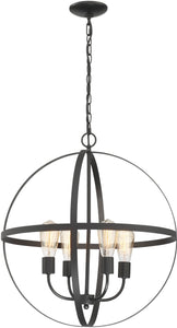 Manton 4-light Chandeliers Black