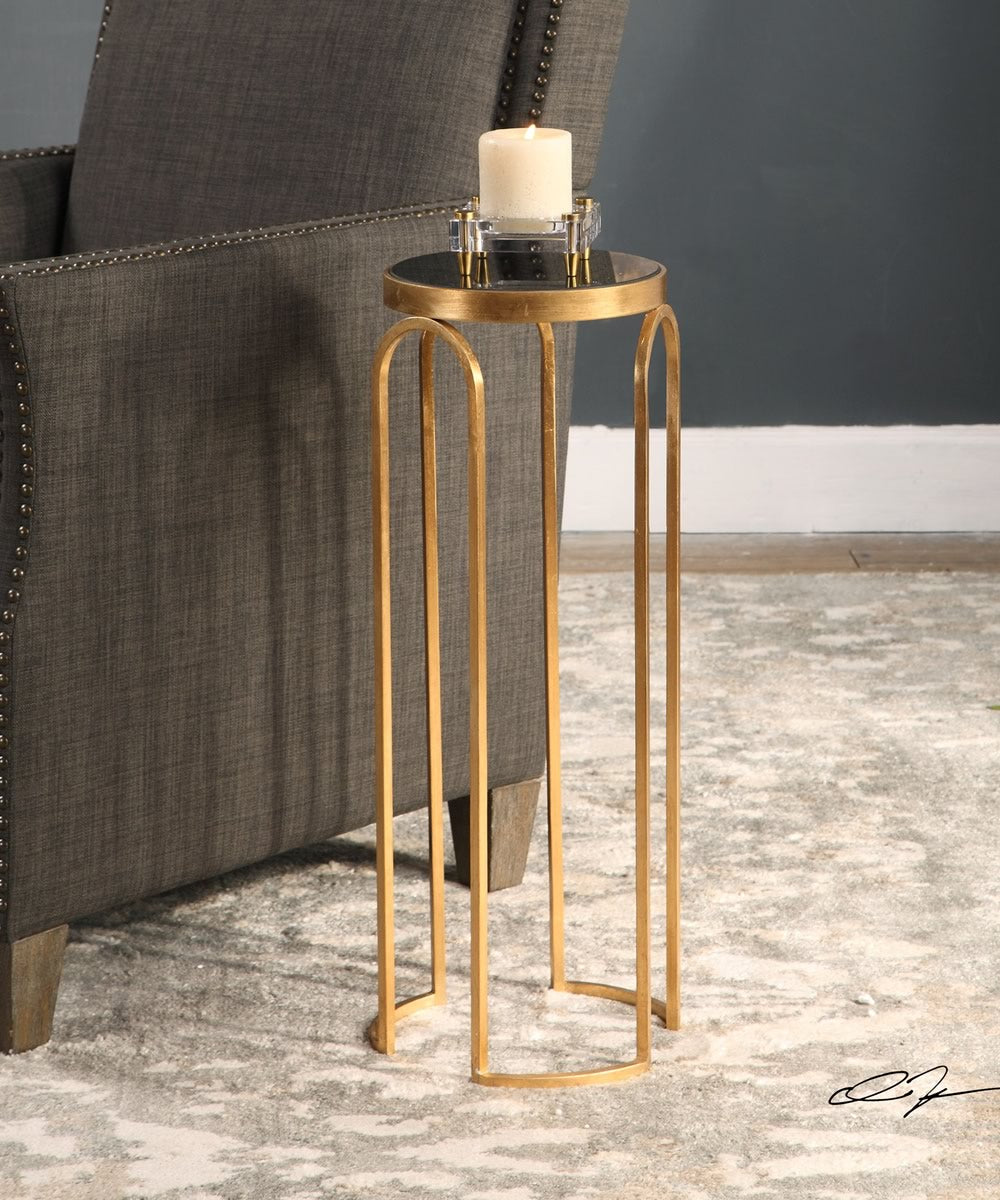 "25""H Novalie Gold Accent Table"